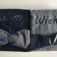 Handdoek met naam en washand badtextiel, handdoek, handdoek met naam, naam