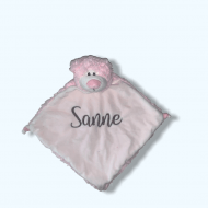 Knuffiezz knuffeldoek Beertje Rosa beertje rosa, C99191, knuffeldoek, knuffeldoek beer, knuffeldoek met naam, knuffiezz