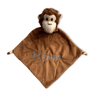 Knuffiezz knuffeldoek Aap aap knuffeldoek, knuffeldoek, knuffeldoek met naam, Knuffeldoekje, knuffiezz