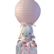 Luchtballon Nijntje roze luxe babyshower, kraampakket, luchtballon, luchtballon nijntje mint, luiers in luchtballon, Nijntje