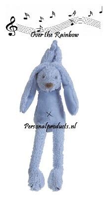 Rabbit Richie muziekknuffel happy horse, happy horse met naam, konijn, rabbit, rabbit richie met naam, richie