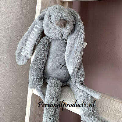 Rabbit Richie muziekknuffel met naam happy horse, happy horse met naam, konijn, rabbit, rabbit richie met naam, richie