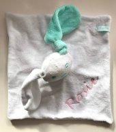 Tutpoppetje konijn knuffeldoek, labeldoek, speenknuffel, tutpop, tutpopje, tutpopje met naam, tutpoppetje, tutpoppetje met naam