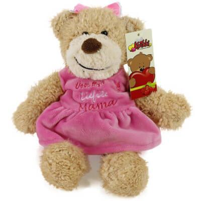 Pluche beer Kwikki voor de liefste mama beer, kwikki, voor de liefste mama beer
