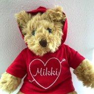 Valentijn beer knuffel met naam, valentijn, valentijns beer