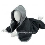 Babycape grijs-lichtgrijs baby, baby badcape, babycapes, bad cape, badcape, badcape met naam, cape, cape met naam, consultatiebureau, omslag doek, omslagdoek, zwemmen