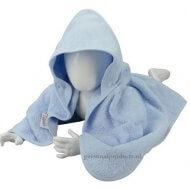 Babycape lichtblauw baby, baby badcape, babycapes, bad cape, badcape, badcape met naam, cape, cape met naam, consultatiebureau, omslag doek, omslagdoek, zwemmen