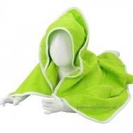 Babycape lime-wit baby, baby badcape, babycapes, bad cape, badcape, badcape met naam, cape, cape met naam, consultatiebureau, omslag doek, omslagdoek, zwemmen
