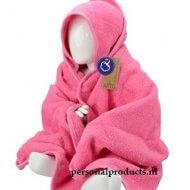 Babycape roze groot baby, baby badcape, babycapes, bad cape, badcape, badcape met naam, cape, cape met naam, consultatiebureau, omslag doek, omslagdoek, zwemmen