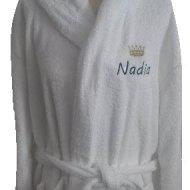 Badjas met sjaalkraag badjas met naam, kinder badjas, kinderbadjas, kinderbadjas met naam, zwemmen