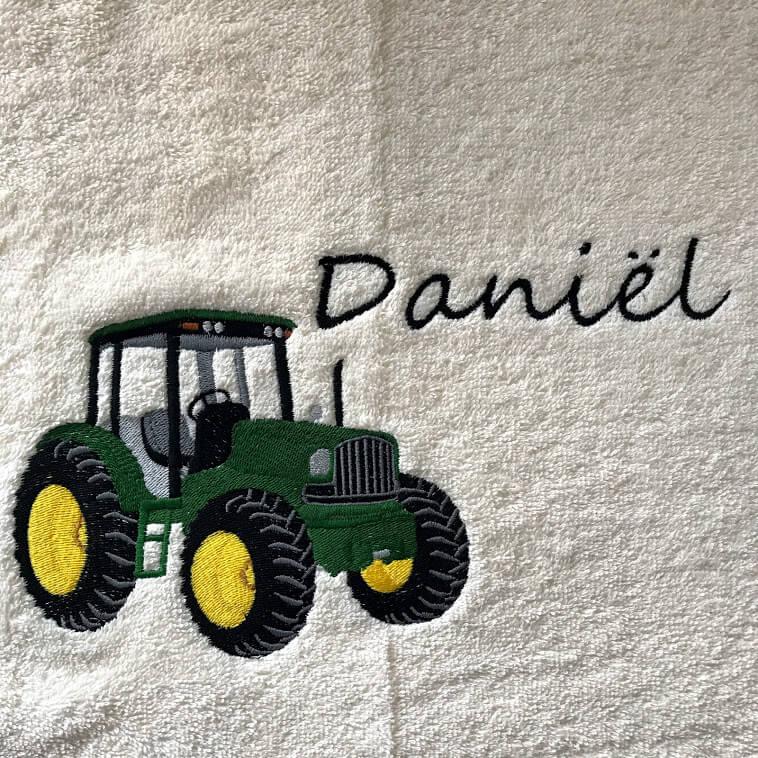 Handdoek Met Naam En John Deere Tractor Personal Products