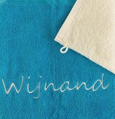 Handdoek met naam badtextiel, handdoek, handdoek en naam, handdoek met naam, handdoek met naam geborduurd, naam