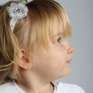 Kanten haarbandje organza bloem met strass babyhaarband, haarband, haarbandje baby, haarbandjes, kant, Kanten haarbandje, smal haarbandje