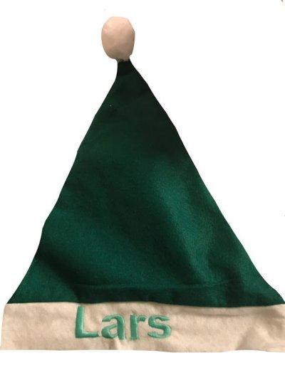 Kerstmuts groen met naam Kerstmuts, kerstmuts met naam, kerstmutsje, met naam, muts, mutsen, mutsje