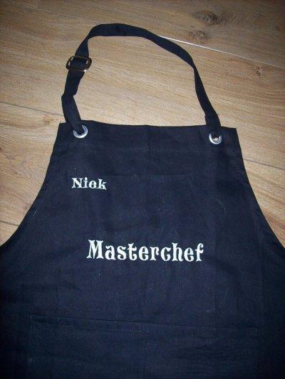 Keukenschort met naam of tekst hobby schort, keukenschort, kookschort, met naam, schort