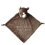 Knuffiezz knuffeldoek Neushoorn C99084, knuffeldoek, knuffeldoek met naam, knuffeldoek neushoorn, knuffiezz