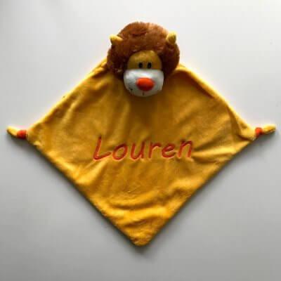 Knuffiezz knuffeldoek Leeuw C99078, knuffeldoek leeuw, knuffeldoek met naam, knuffeldoekje met naam, knuffiezz, leeuw