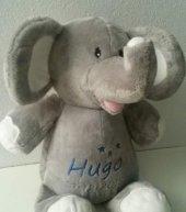 Olifant mintgroen knuffiezz, met naam, olifant, olifant met naam, olifantje, olifantje blauw, olifantje lavendel, olifantje mintgroen, olifantje roze, ollie het olifantje