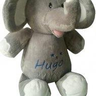 Olifantje in 4 kleuren knuffiezz, met naam, olifant, olifant met naam, olifantje, olifantje blauw, olifantje lavendel, olifantje mintgroen, olifantje roze, ollie het olifantje