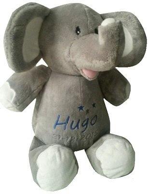 Olifantje in 5 kleuren knuffiezz, met naam, olifant, olifant met naam, olifantje, olifantje blauw, olifantje lavendel, olifantje mintgroen, olifantje roze, ollie het olifantje