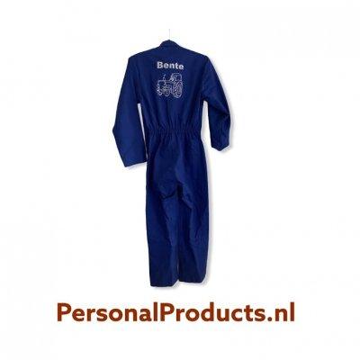 Kinder overall met naam en tractor kinder, met naam, overall, overall met naam, overalls, personalproducts.nl, tractor