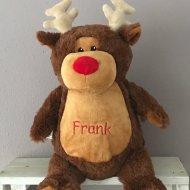 Rudolph het rendier cubbies, geboorte, geboorte knuffel met naam, kerstrendier, met naam, rudolph het rendier