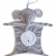 Speenknuffel olifant grijs, met naam, olifant, speenknuffel, speenknuffels