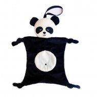 Speenknuffel panda met naam, panda, speenknuffel, speenknuffels, zwart