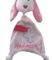 Speenknuffel konijn konijn, met naam, roze, speenknuffel, speenknuffels