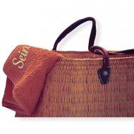 Strandlaken met naam badtextiel, beach towel, naam, strand handdoek, strandlaken
