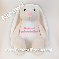 Tummiezz Konijn Creme knuffel, knuffel met naam, konijn, konijn met naam, tummi, tummi bear, tummiezz
