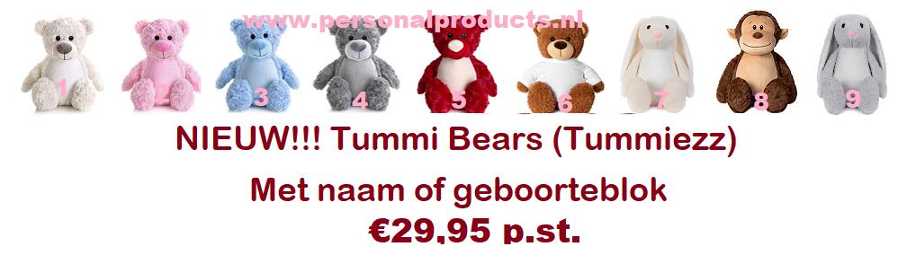 Tummiezz Teddy Beer Blauw A&R, beer, blauw, knuffel, knuffel met naam, tummi, tummie bear, tummiezz