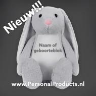 Tummiezz Konijn Grijs A&R, knuffel, knuffel met naam, konijn, konijn met naam, tummi bunny, tummiezz